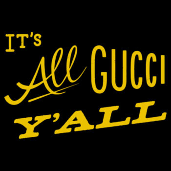 IT'S ALL GUCCI YA'LL - Premium 3/4 Sleeve Baseball Tee - Black/White Design