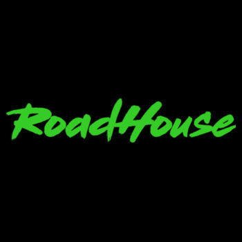 ROADHOUSE - Premium Pullover Hoodie - Black w/ Green Print Design