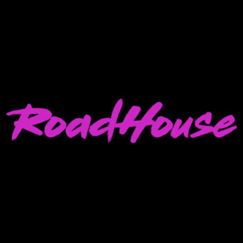 ROADHOUSE - Premium Women's Racerback Tank Top - Black w/ Magenta Print Design