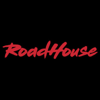ROADHOUSE - Premium Pullover Hoodie - Black w/ Red Print Design