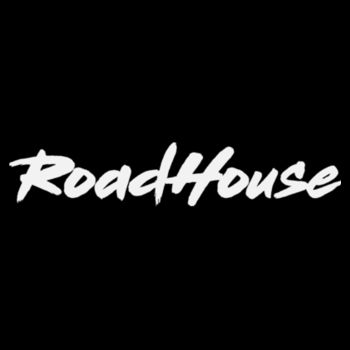 ROADHOUSE - Premium Racerback Tank Top - Black w/ White Print Design