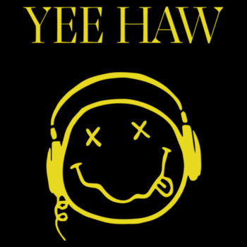 YEE HAW - Premium Short Sleeve T-Shirt - Black Design