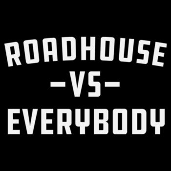 ROADHOUSE VS EVERYBODY - Premium Women's Racerback Tank Top - Black Design