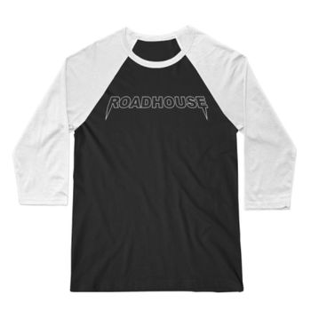 ROADHOUSE YEEZY - 3/4 Sleeve Baseball Tee - Black/White Thumbnail