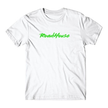 ROADHOUSE - Premium Short Sleeve T-Shirt - White w/ Green Print Thumbnail