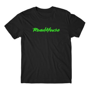 ROADHOUSE - Premium Short Sleeve T-Shirt - Black w/ Green Print Thumbnail