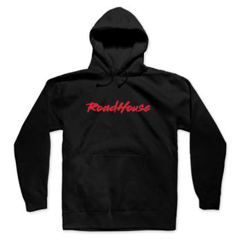 ROADHOUSE - Premium Pullover Hoodie - Black w/ Red Print Thumbnail