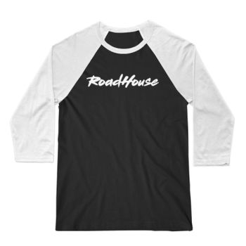 ROADHOUSE - Premium 3/4 Sleeve Baseball T-shirt - Black/White Thumbnail