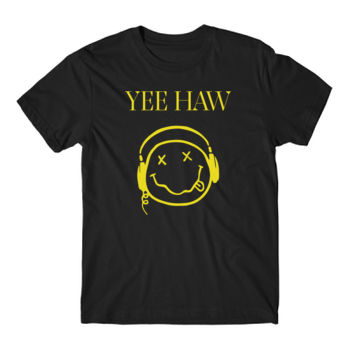 YEE HAW - Premium Short Sleeve T-Shirt - Black Thumbnail
