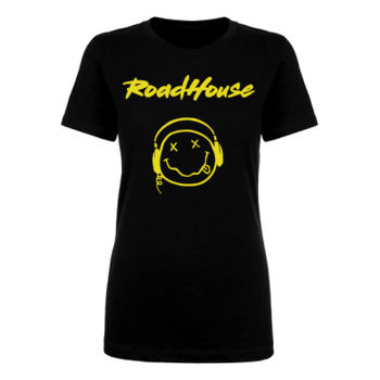 SMILEY - Premium Women's Short Sleeve T-Shirt - Black Thumbnail