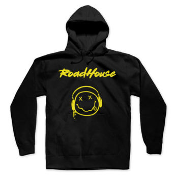 SMILEY - Premium Pullover Hoodie - Black Thumbnail