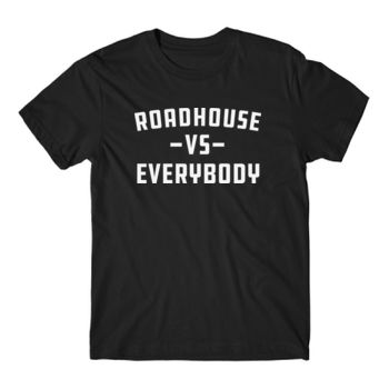 ROADHOUSE VS EVERYBODY - Premium Short Sleeve T-Shirt - Black Thumbnail