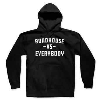 ROADHOUSE VS EVERYBODY - Premium Pullover Hoodie - Black Thumbnail