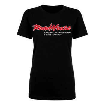 STAY READY - Premium Women's Short Sleeve T-Shirt - Black Thumbnail